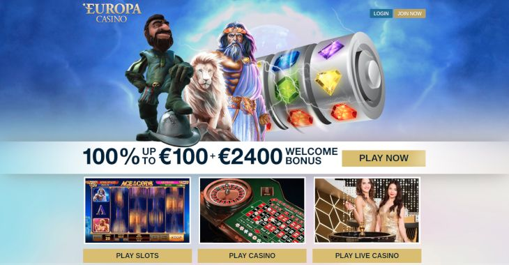 Europa Casino welcome bonus